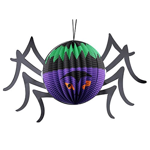 """Halloween Party Decorations Paper Spider Lantern by Hello Halloween 
