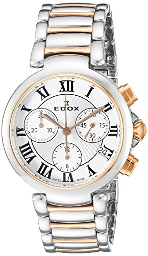 Edox Women's 10220 357RM AR LaPassion Analog Display Swiss Quartz Two Tone Watch