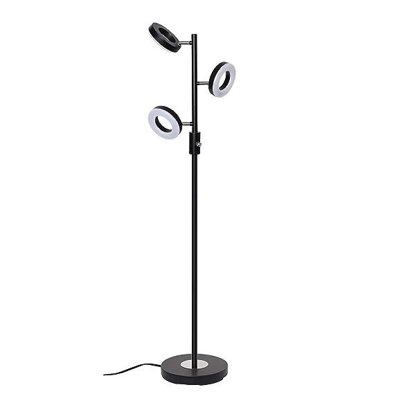 Sunllipe 3 Light Floor Lamp, Tree Floor Lamp Adjustable, 60 Inch 21 W Modern Sturdy Standing Lamp Uplight For Living Room, Bedroom And Office Jet Black by Sunllipe