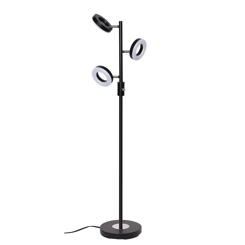SUNLLIPE 3 Lights Floor Lamp Adjustable Tree Lamp, 60 Inch 21 Watt Warm White Light Led Floor Lamps for Living Room, Bedroom and Office-Jet Black