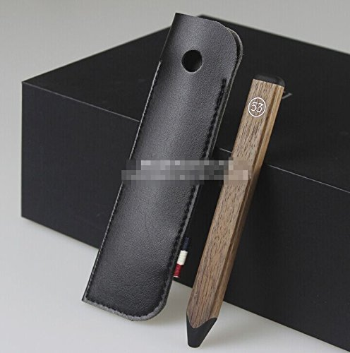 Black Microfiber Leather Case Cover Sleeve for FiftyThree Paper Pencil 53 Stylus