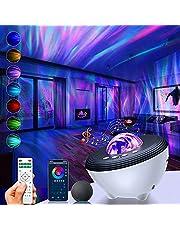 Projetor Inteligente de luz noturna XUELILI Compatível com Alexa e Google Home/APP Control, modo DIY, Projetor de galaxia com alto-falante Bluetooth dinâmico, nebulosa e estrelas para criança / adulto