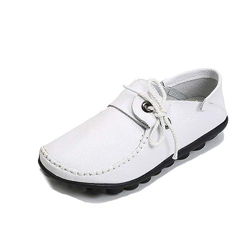 Zapatos Casuales De Las Mujeres OtoñO De Cuero De Vaca Mocasines Atados Cruzados Zapatos De Mujer Zapatos con Cordones De ConduccióN SeñOras Mocasines ...
