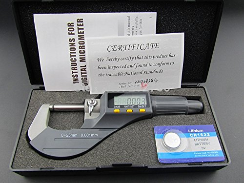 0-25mm Micron Digital outside Micrometer Electronic micrometer gauge 0.001mm Measuring & Gauging Tools