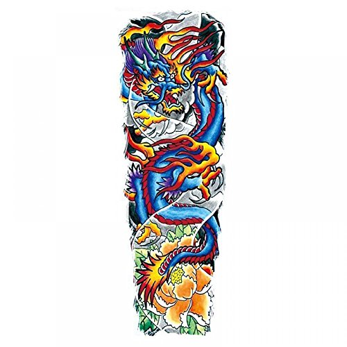 GGSELL Waterproof and non toxic Full arm colorful dragon temporary tattoos for men and women