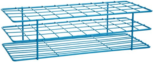 Bel-Art F18772-0001 Poxygrid Test Tube Rack; 20-25mm, 40 Places, 11⁹/₁₆ x 5¹/₁₆ x 3¹/₄ in., Blue