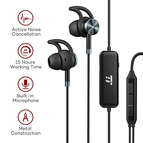 Computer Media Active Noise: TaoTronics Active Noise Cancelling In Ear Wired Headphones