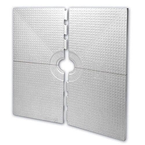 New KERDI-SHOWER-ST - 48 x 48 - Shower Tray - Center Drain Placement - 1-1/2 Perimiter Height