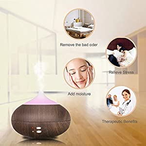 hysure Ultrasonic Mini Humidifier Aromatherapy Diffuser with Essential Oil for Kids,Home, Room, Spa. Desktop and Whole house, Deep