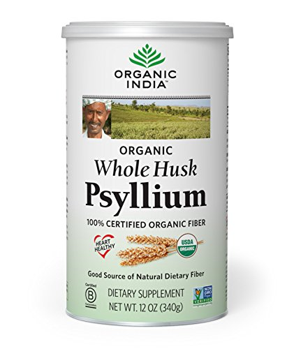 Organic India Whole Husk Psyllium, 12-Ounce (Laxative Herbal Psyllium Husks)