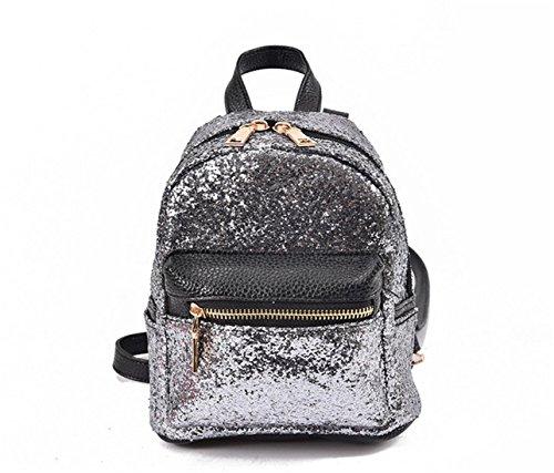 Travel Silver Purse Handbags For Nodykka Bag Shoulder Fashion Mini Sequin Crossbody Women Girls Backpack qt6pS