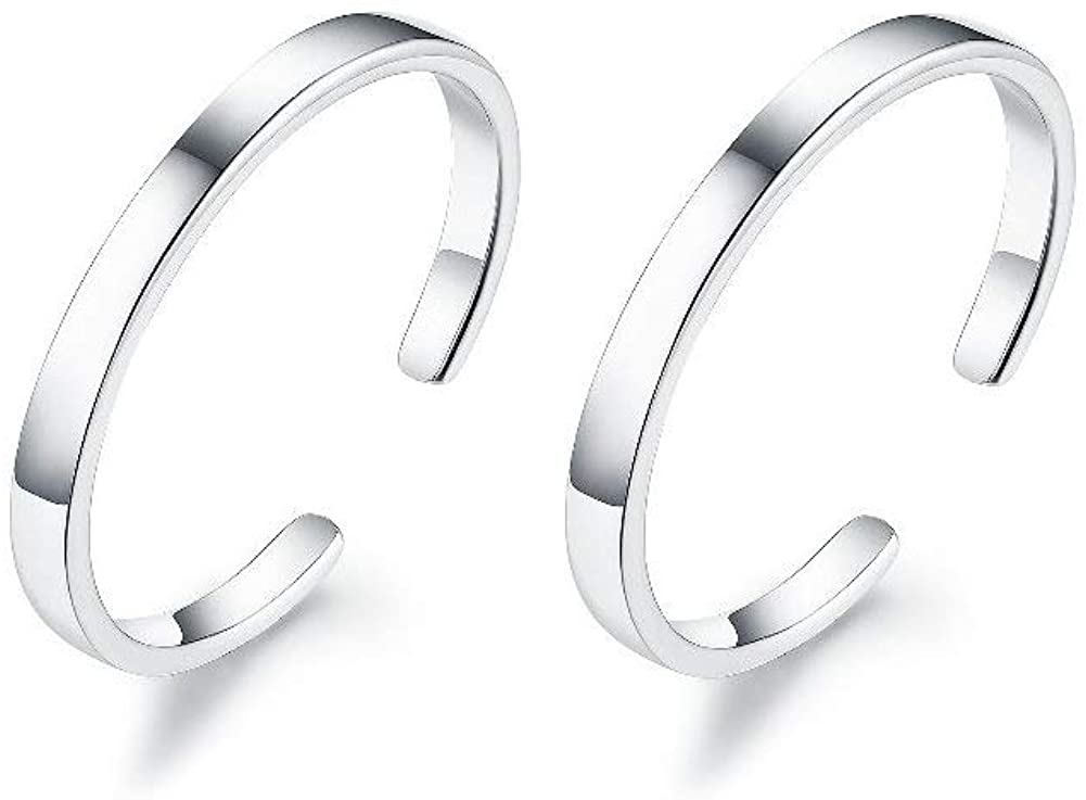 Women/'s Fashion 925 Sterling Silver White Black Open Heart Ear Hoop Earrings