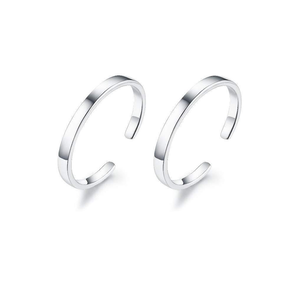 b51f37deb IminiJewelry Minimalist Cuff Clip On 925 Sterling Silver Small Hoop Earrings  for Women Teen Girls Cartilage Fashion Wrap No Piercing Ear Hypoallergenic