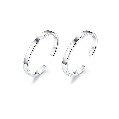 2982e9fc3 IminiJewelry Minimalist Cuff Clip On 925 Sterling Silver Small Hoop Earrings  for Women Teen Girls Cartilage