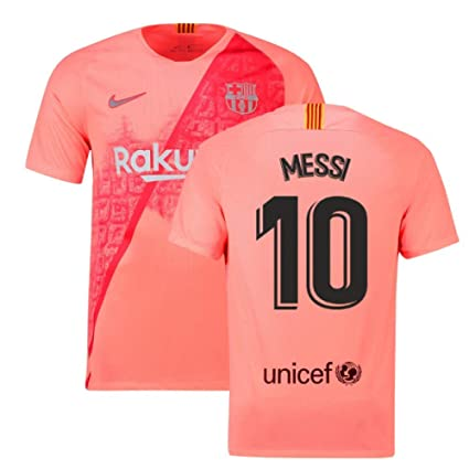 buy popular 7ebc7 08756 2018-2019 Barcelona Third Nike Football Soccer T-Shirt Jersey (Lionel Messi  10)