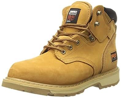 """Timberland PRO Men's Pitboss 6"""" Soft-Toe Boot,Wheat,7 M"""