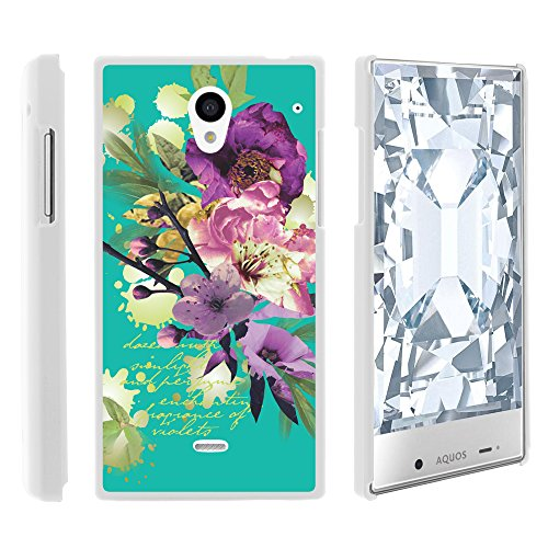 AQUOS Crystal Case, Full Body Armor Hard Protector Case Cover with Image Design for Sharp AQUOS Crystal 306 SH (Sprint, Boost Mobile, Virgin Mobile) from MINITURTLE | Includes Clear Screen Protector and Stylus Pen - Painted Flowers (Sharp Aquo Crystal Cases compare prices)