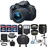 Canon EOS Rebel T5i 18MP DSLR Digital Camera & Canon EF-S 18-55mm f/3.5-5.6 IS STM Lens + Pro Series HD 58mm wide angle Lens + 58mm 2.2x HD Telephoto professional Lens + Deluxe Bundle