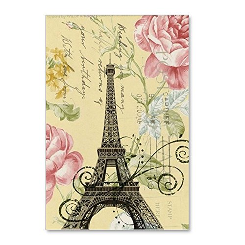 (CafePress - Floral Paris Eiffel Tower - Postcards (Package of 8), 6