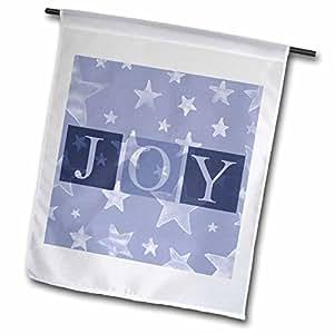 Patricia Sanders Christmas - Denim Blue Stars Joy- Holiday Inspirations - 18 x 27 inch Garden Flag (fl_39377_2)