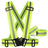 Best Reflective Safety Vests - Reflective Vest with 2 Safety wrist Oziral Reflective Review