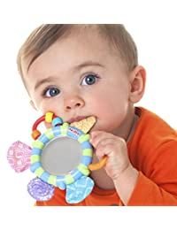 Nuby Look-At-Me Mirror Teether Toy, Colors May Vary BOBEBE Online Baby Store From New York to Miami and Los Angeles