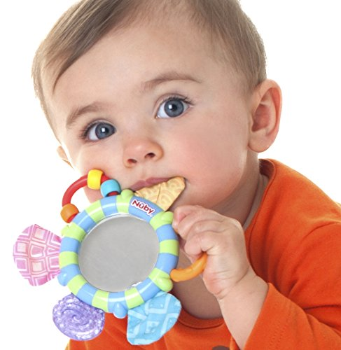 Nuby Look At Me Mirror Teether Colors