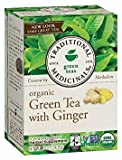Traditional Medicinals Green Tea with Ginger, Green Tea, Organic, 16 CT