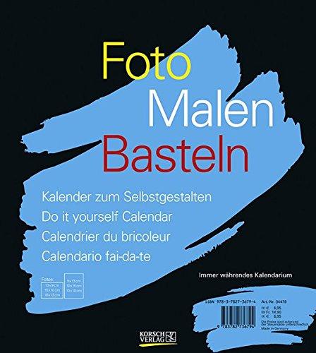 FMB schwarz immer während 21,5x24: Bastelkalender ohne Jahr. Fotokalender zum Selbstgestalten. Do-it-yourself Kalender mit festem Fotokarton.