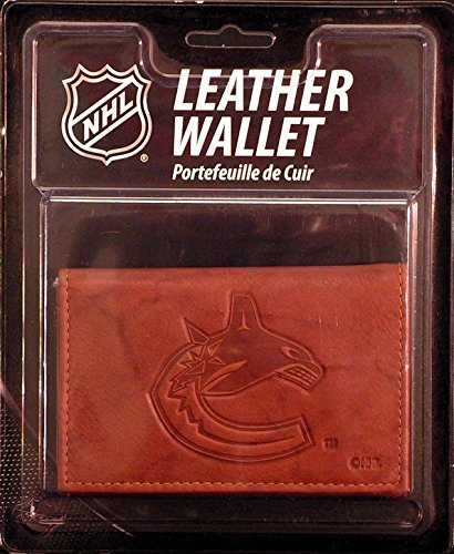Rico Industries NHL Vancouver Canucks Embossed Leather Trifold Wallet with Man Made InteriorEmbossed Leather Trifold Wallet with Man Made Interior, Multicolor, 1
