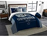 Dallas Cowboys - 3 Piece KING SIZE Printed Comforter & Shams