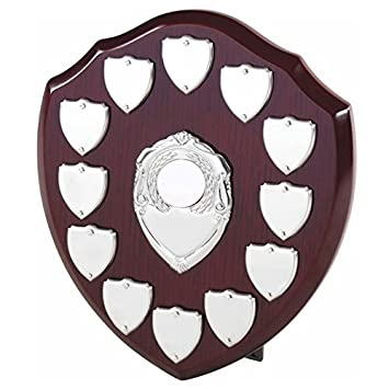 County Engraving The Multi Sport 12 Year Annual Wooden Shield Award Trophy Personalised Engraved
