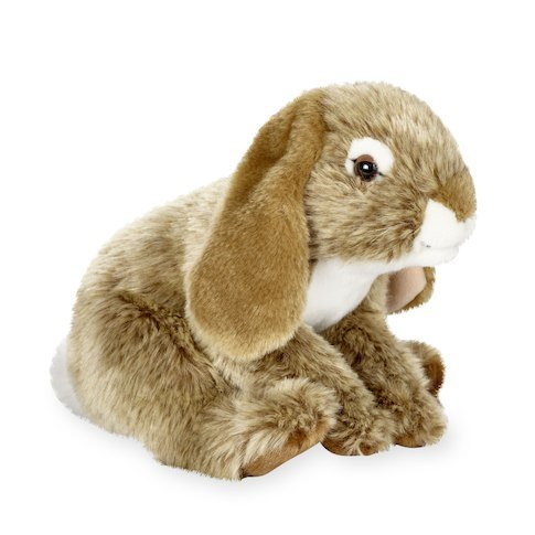 EXCLUSIVE Animal Alley 10 inch BUNNY Light Brown - Designed With Floppy Ears, Cute Whiskers and a Little Fluffy Tail