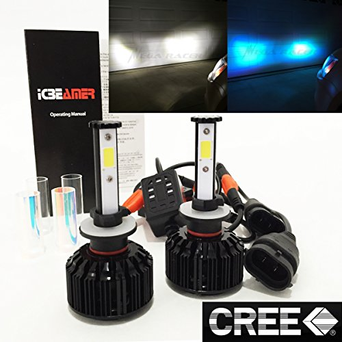 - Mega Racer (2 Colors in 1 Set) 880 893 899 881 894 898 862 10000K Blue 6K White (Fog Light) CREE COB LED Kit 8000 Lm 80W