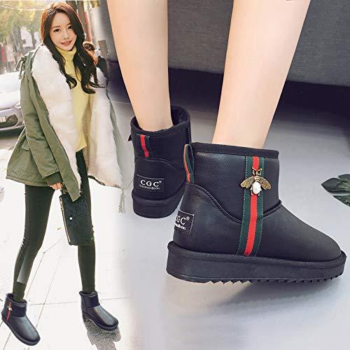 KPHY Damenschuhe Stiefeln Frauen Frauen Frauen - Kurzen Schlauch Wild Studenten Winter Warm Baumwolle Baumwolle Stiefel Schuhe. 52f5cf
