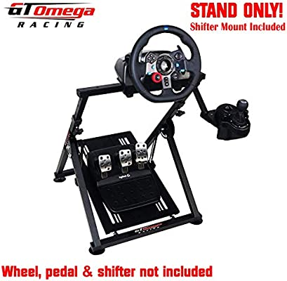 763ac687776 GT Omega APEX Racing Wheel Stand for Logitech Fanatec Clubsport Thrustmaster  Gaming Steering Wheel Pedal &