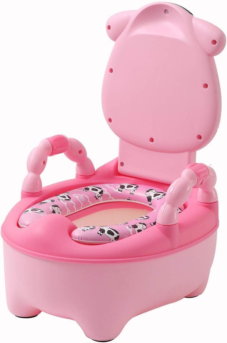 Orinales Infantiles Water para Ninos Ninas Inodoro WC Bebe con Tapa Aprendizaje Pantorrilla Rosado