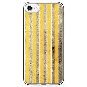 iPhone 8 Transparent Edge Phone case Yellow Lines Elegant Phones 937