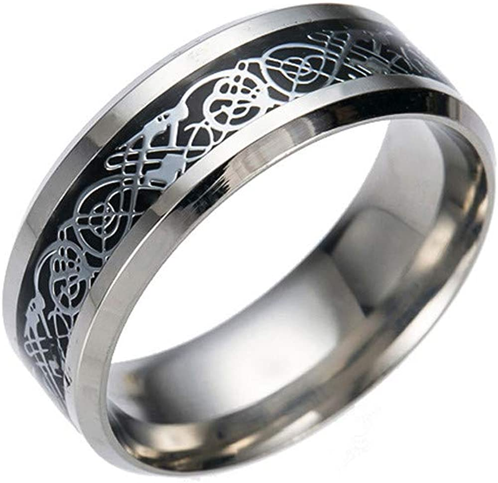 Dainty Rings,Alalaso Stainless Steel Dragon Ring With Silver Golden Dragon Stainless Steel Ring