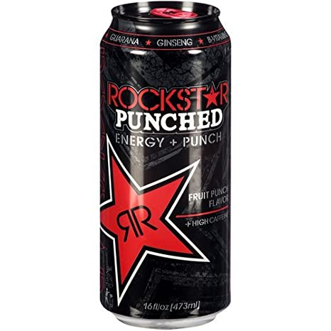 Rockstar Fruit Punch Punched Energy Drink, 16 Ounce (16 Cans)