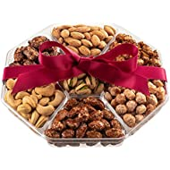 Holiday Gift Basket | Fresh Sweet & Salty Dry Roasted Gourmet Nuts Gift Basket | Fantastic Food Gift Basket for Thanksgiving, Fathers Day, Sympathy, Family, Men & Women | Prime Delivery