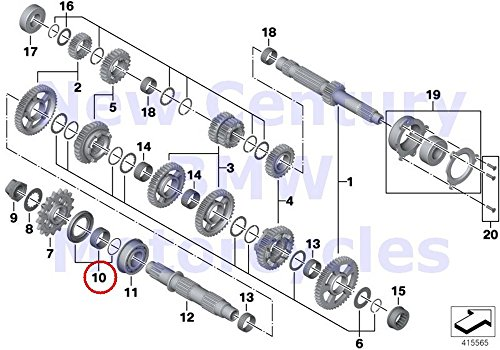 BMW Genuine Motorcycle Output Shaft Transmission Shafts Output Shaft Gasket Set HP4 S1000RR S1000R S1000XR by BMW