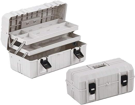 XF Caja de herramientas, Caja de herramientas de plástico grande Caja de almacenamiento de tres capas Hardware Caja de herramientas Inicio Caja multifunción de reparación de automóviles Organizador de: Amazon.es: Hogar
