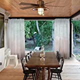 Macochico Rod Pocket Gradient Ombre Sheer Curtains Taupe Solid Color Indoor Outdoor Home Decoration Privacy Protection Dustproof for Patio Garden Backyard Living Room 120Wx 84L (1 Panel)