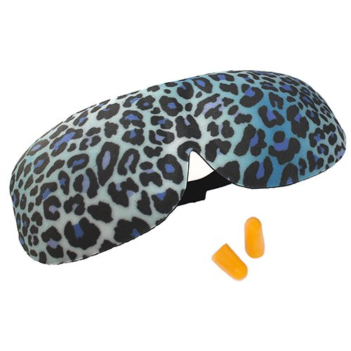 tive Sleep Mask: Leopard Print (Contoured design shields lashes with lasting comfort, lash extension safe) ()