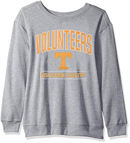J America NCAA Tennessee Volunteers Womens NCAA Women's Light Weight Oversized Fleece, Large, Oxford