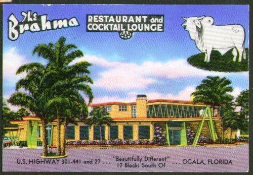 brahma-restaurant-ocala-fl-miniature-postcard-1950s