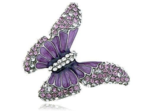 Enamel Butterfly Ring - 3