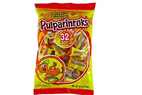Mango Enamel (Pulparinroks De La Rosa Spicy Coated Tamarind Filled Candy 32-pcs Wt 6-oz Bag)