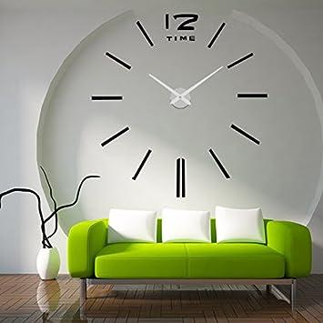 Latest lifeup orologio da parete grandi nero argento - Orologi da parete moderni grandi ...